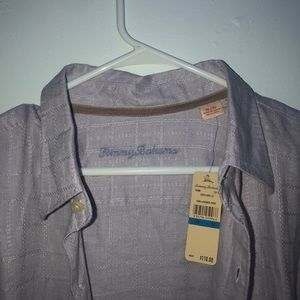 Tommy Bahama Lavender Frost 100% linen dress shirt